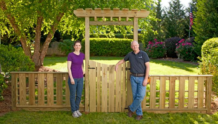 Diy Garden Gate With Arbor And Fence