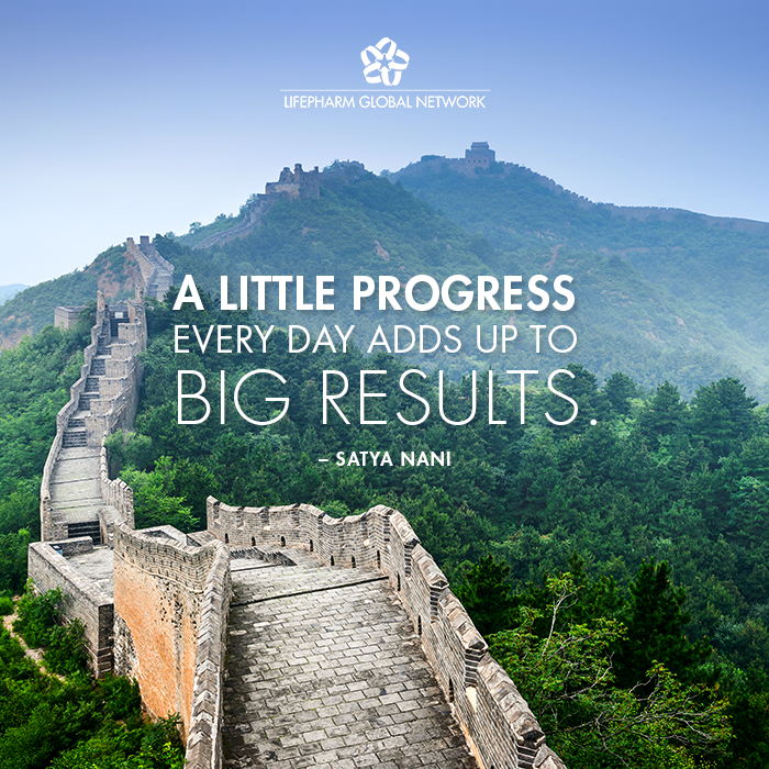 """Inspirational Day Quotes: """"A Little Progress Every Day Adds Up To Big Results"""