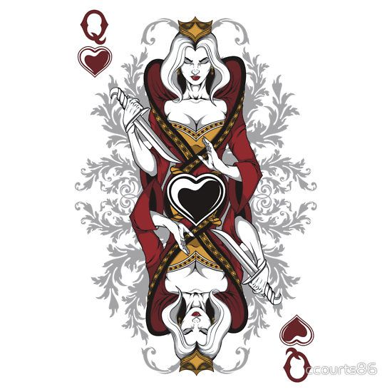 Queen Of Hearts Card Queen Of Hearts By Ccourts86 Wonderland