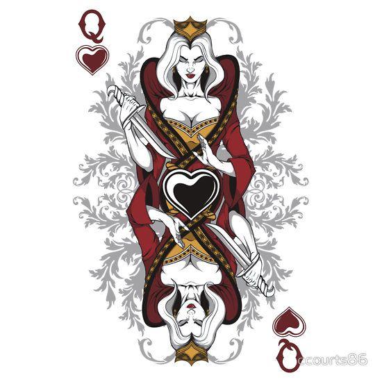 Queen Of Hearts Card Queenofheartsbyccourts86 Wonderland