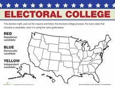 Electoral College Map Electoral College Electoral College Map