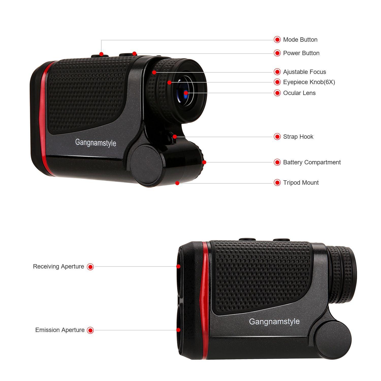 Gangnamstyle rf01600b laser golf rangefinder with flag