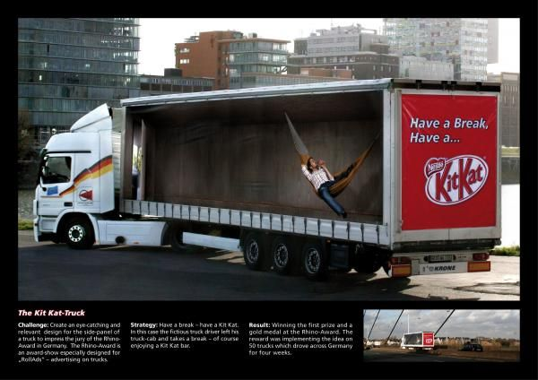 An Inventive Ad Ploy Using Delivery Trucks To Advertise Kitkat S
