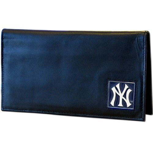 New York Yankees Deluxe Leather Checkbook Cover Leather Checkbook Cover Leather Checkbook Checkbook Cover