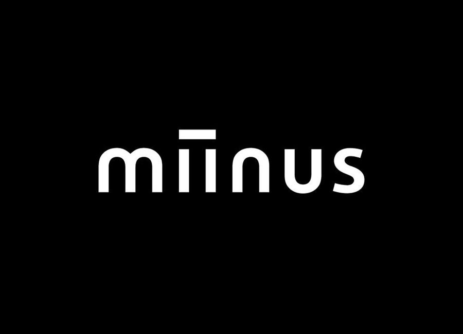Logotype designed by Bond for Puustilli's new reductionist kitchen Miinus
