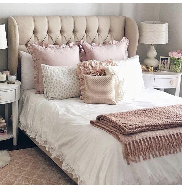 Best New Allison Beige Linen Upholstered Bed For Sale In 640 x 480