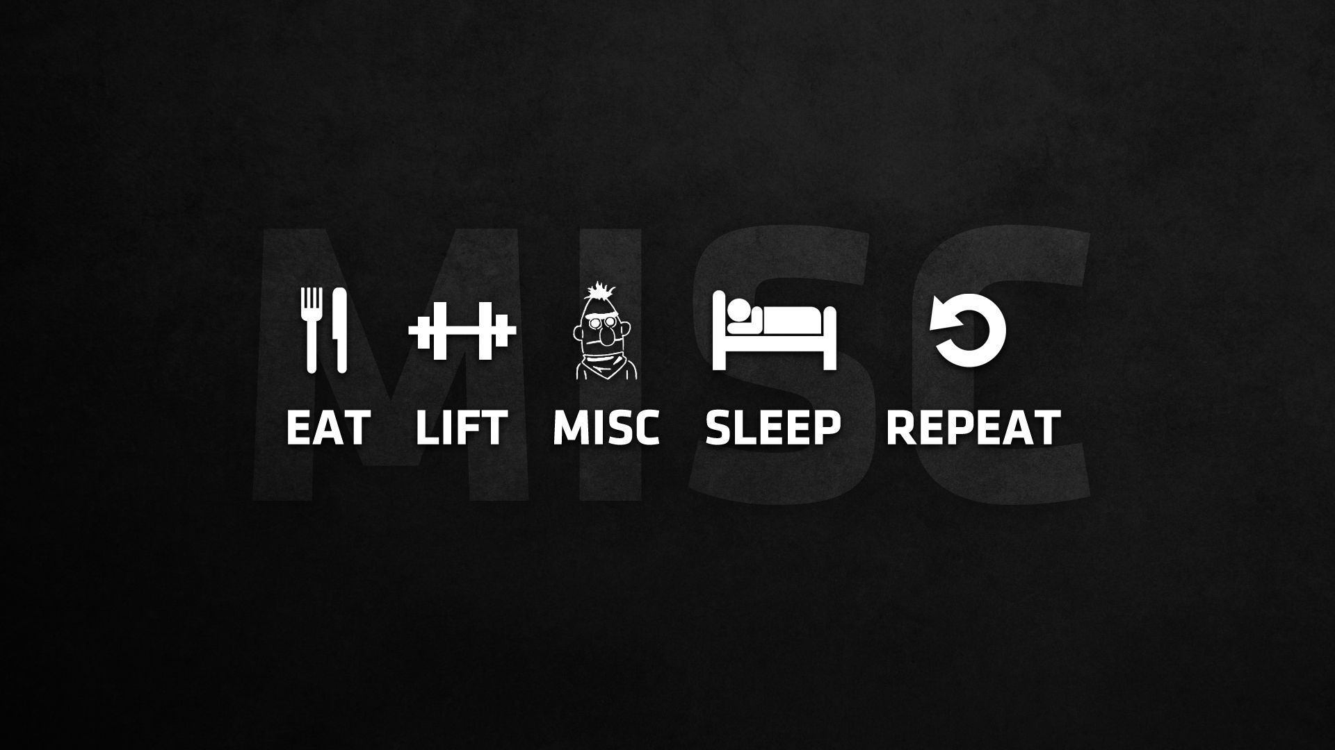 Eat Lift Misc Sleep Repeat WALLPAPER (PIC)   Bodybuilding.com Forums