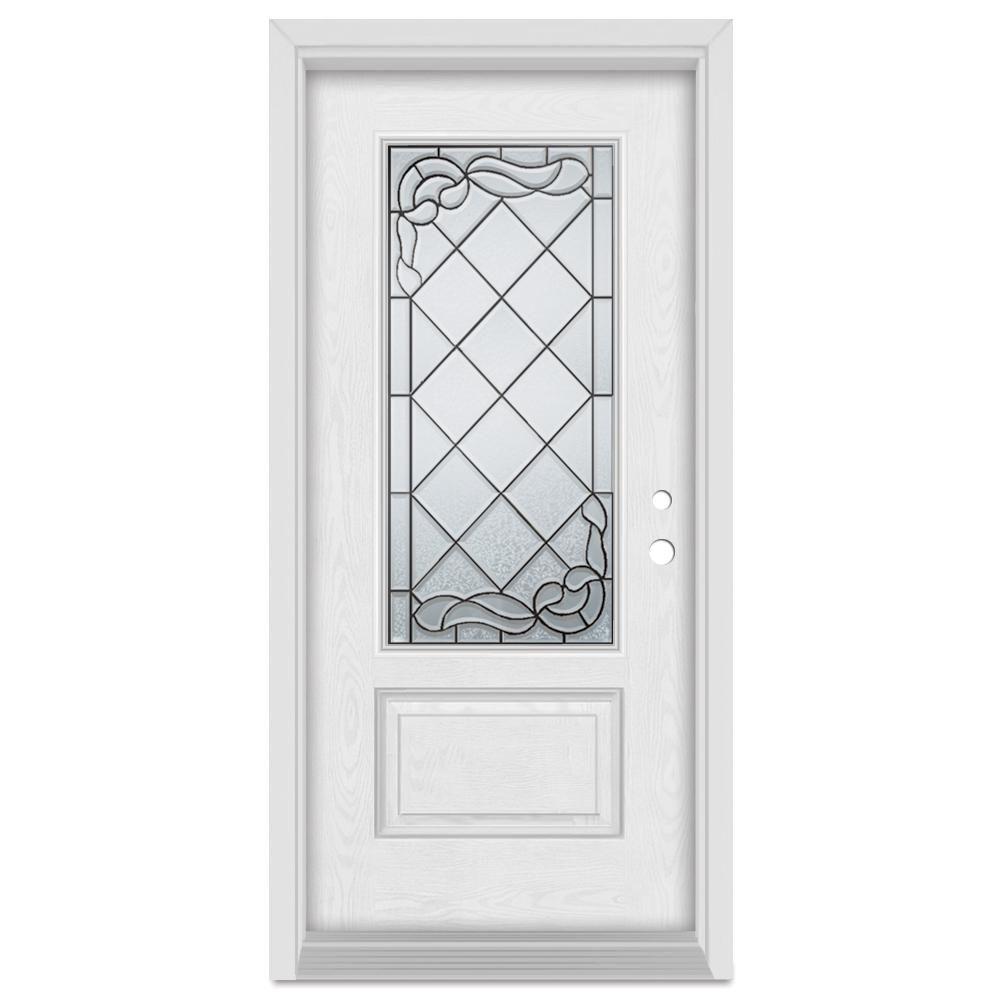 Stanley Doors 33375 In X 83 In Art Deco Left Hand Inswing 34
