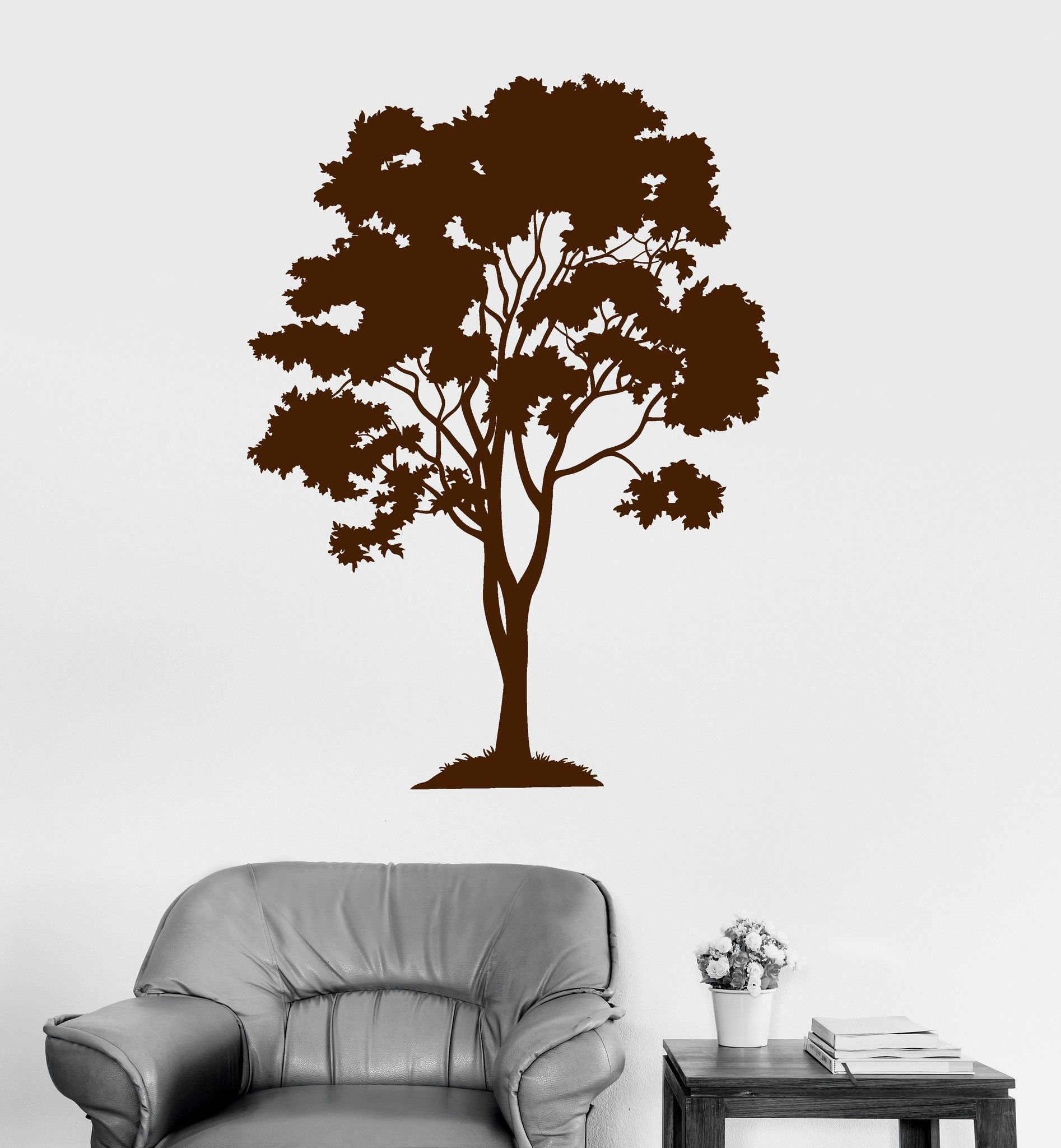 vinyl wall decal tree forest wood home decoration stickers on wall stickers for home id=60514