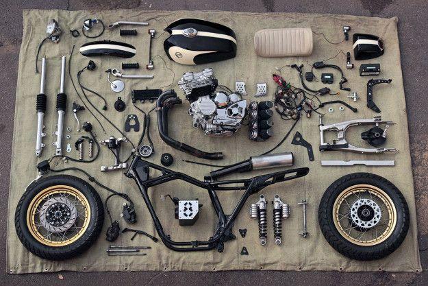 Eight Ball: A Yamaha XJ400 cafe racer from Kiev