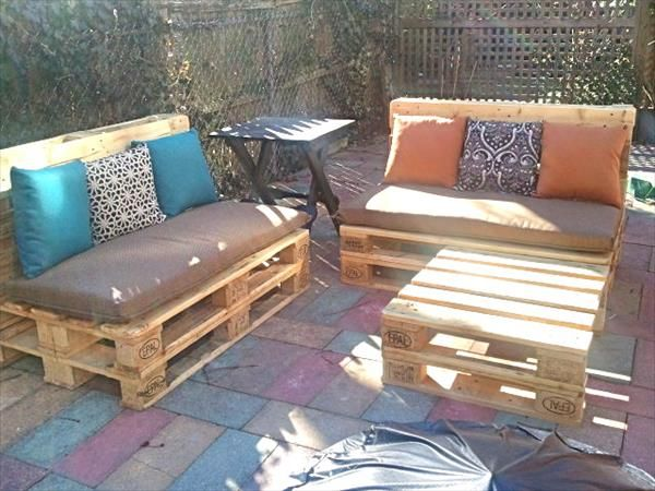 diy pallet projects 50 pallet outdoor furniture ideas. Black Bedroom Furniture Sets. Home Design Ideas