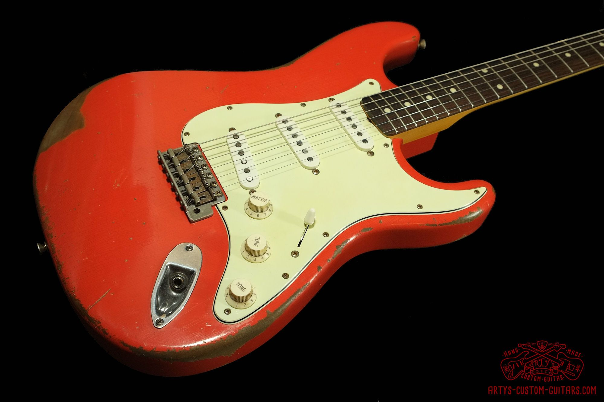 d3d569daa8fd Stratocaster 62 heavy relic Fiesta Red Body Artys Custom Guitars Shop Strat  Relicing Swamp Ash swampash Alder Nitro NC Finish aged Roadworn Arty s