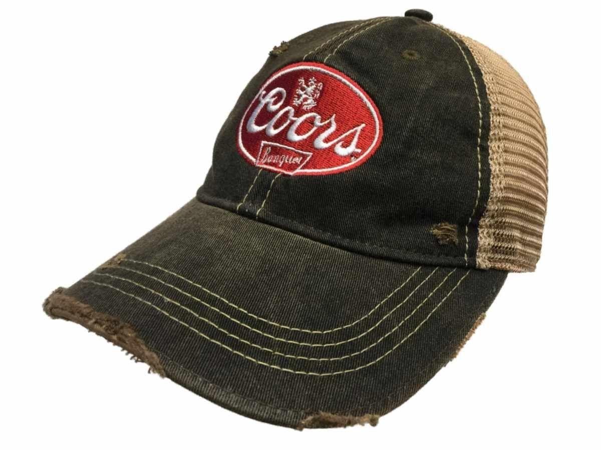 545985bd44a Coors Banquet Brewing Company Retro Brand Vintage Mesh Beer Charcoal Adj Hat  Cap - C7182AG5YQ6 - Hats   Caps