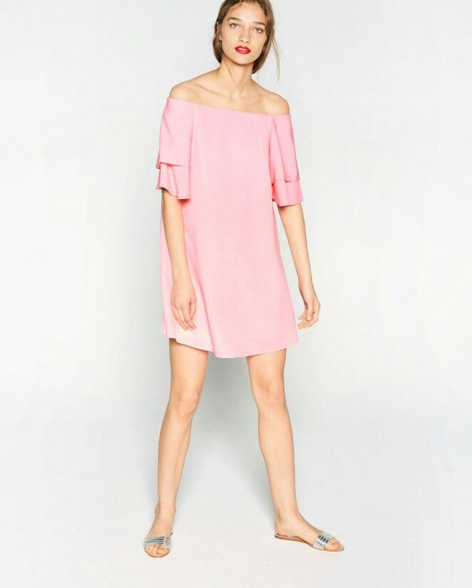 4f2acc1eabce Pink dress Zara | ...fashion, hair and details I love | Frill dress ...