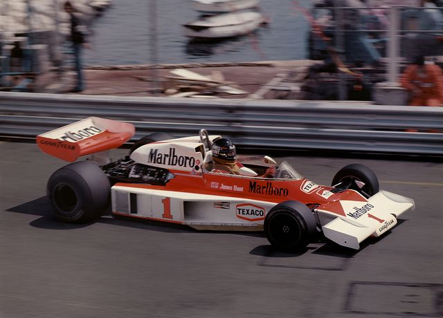 James Hunt in the McLaren-Ford Qualifying for the Monaco GP 1977 by Philinflash, via Flickr