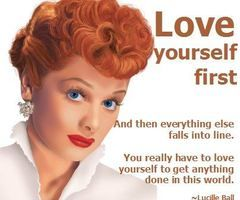 "That's right....Love ""YOURSELF"" first <3"
