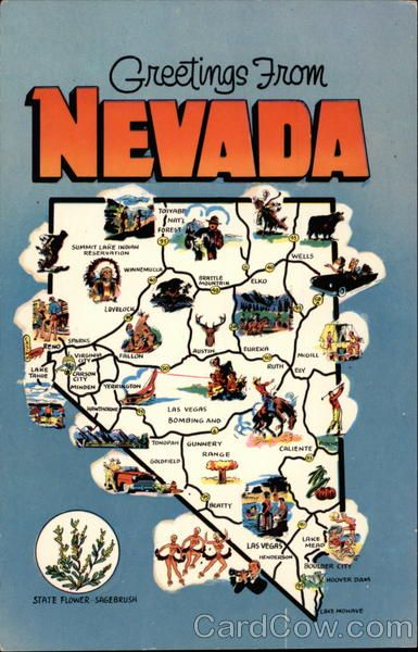 Greetings from Nevada | Las Vegas in 2019 | Nevada state