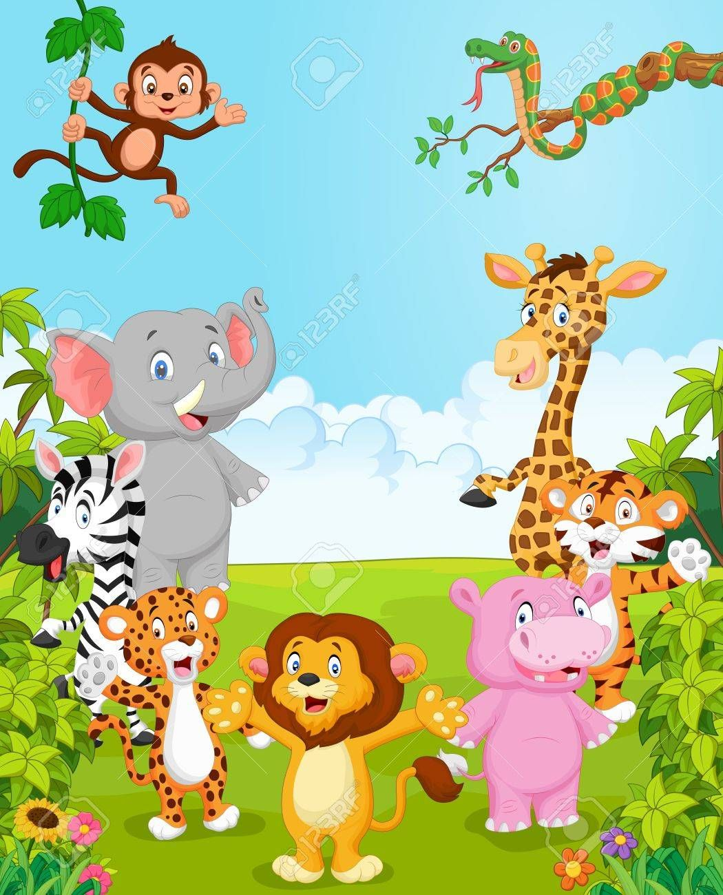 Cartoon Collection Happy Animal Vector Illustration Illustration Affiliate Happy Collec Drawing For Kids Art Drawings For Kids Animal Pictures For Kids