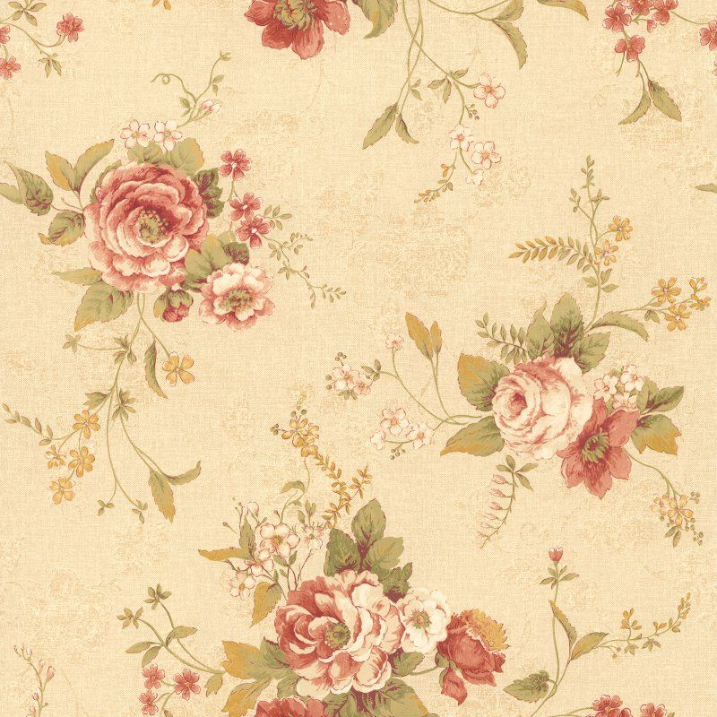 Mirage Stella Maxwell Floral Wallpaper Taupe - 989