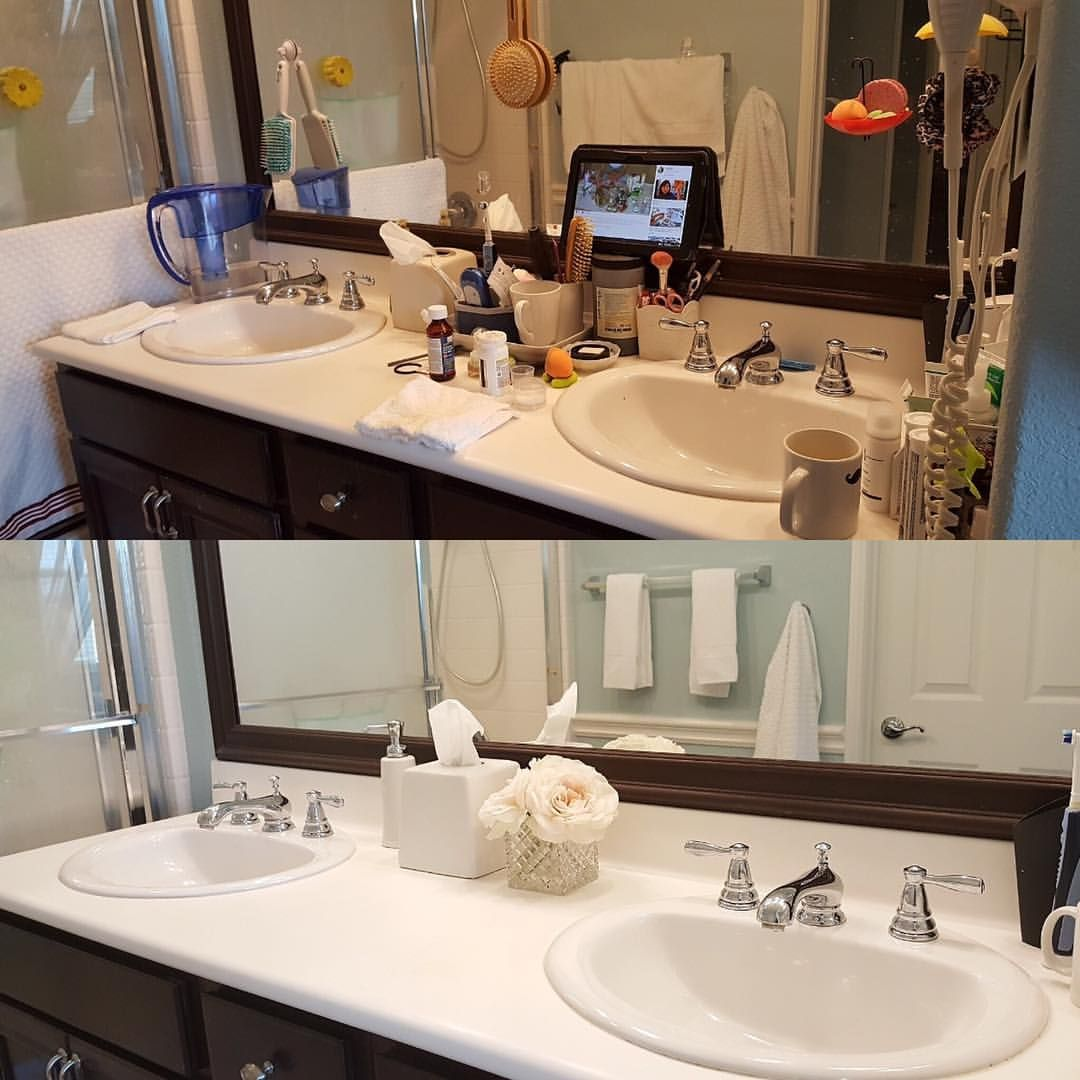 Before And After Bathroom Apartment Bathroom: It's A Little Embarrassed To See My Messy Before Bathroom Picture At Marie Kondo's FB Page