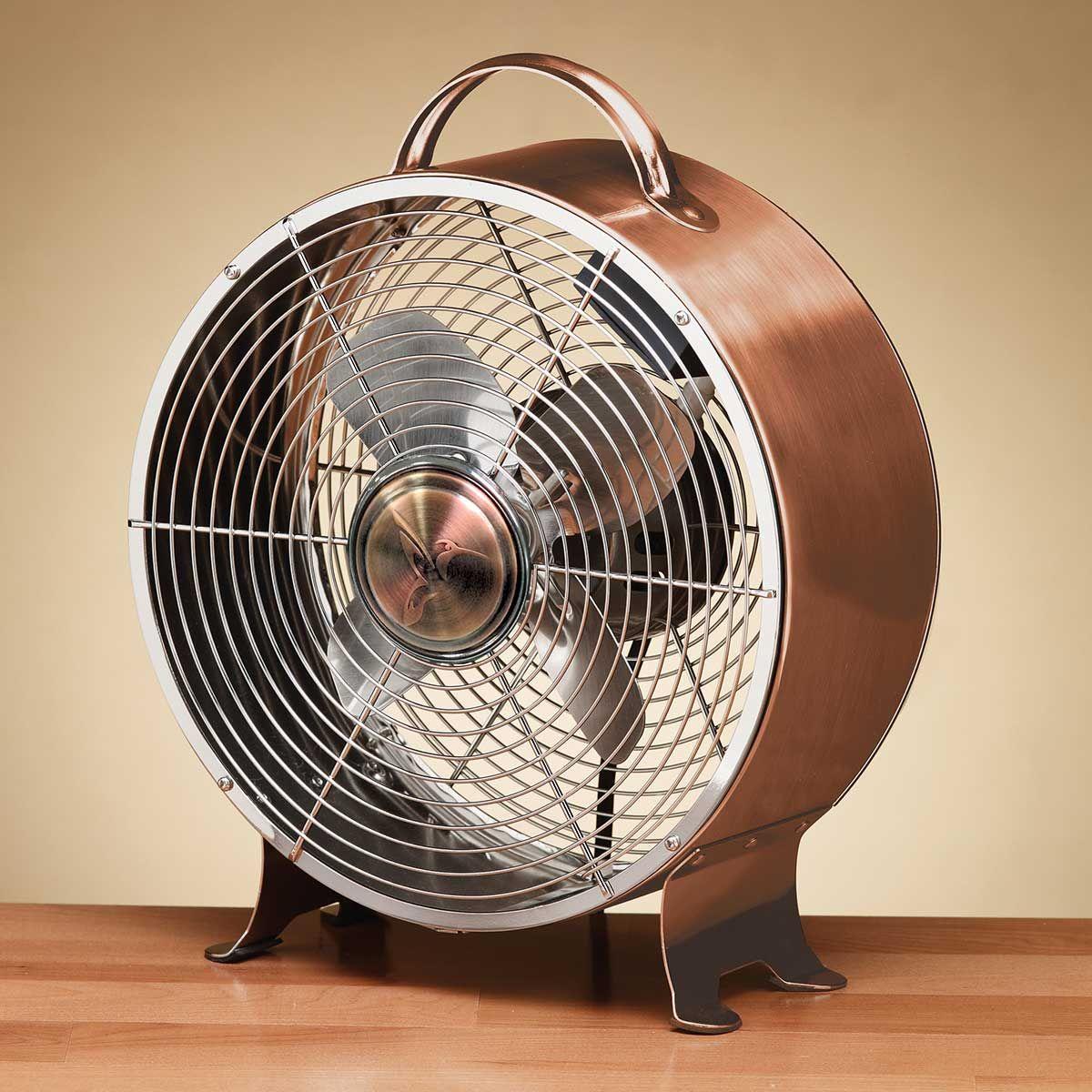 Retro Metal Table Fan Copper Metal Fan Retro Fan Table Fan