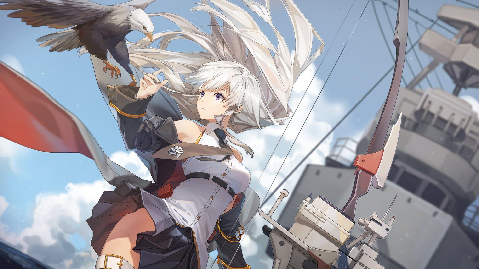 anime anime girls Azur Lane Enterprise (Azur Lane) eagle