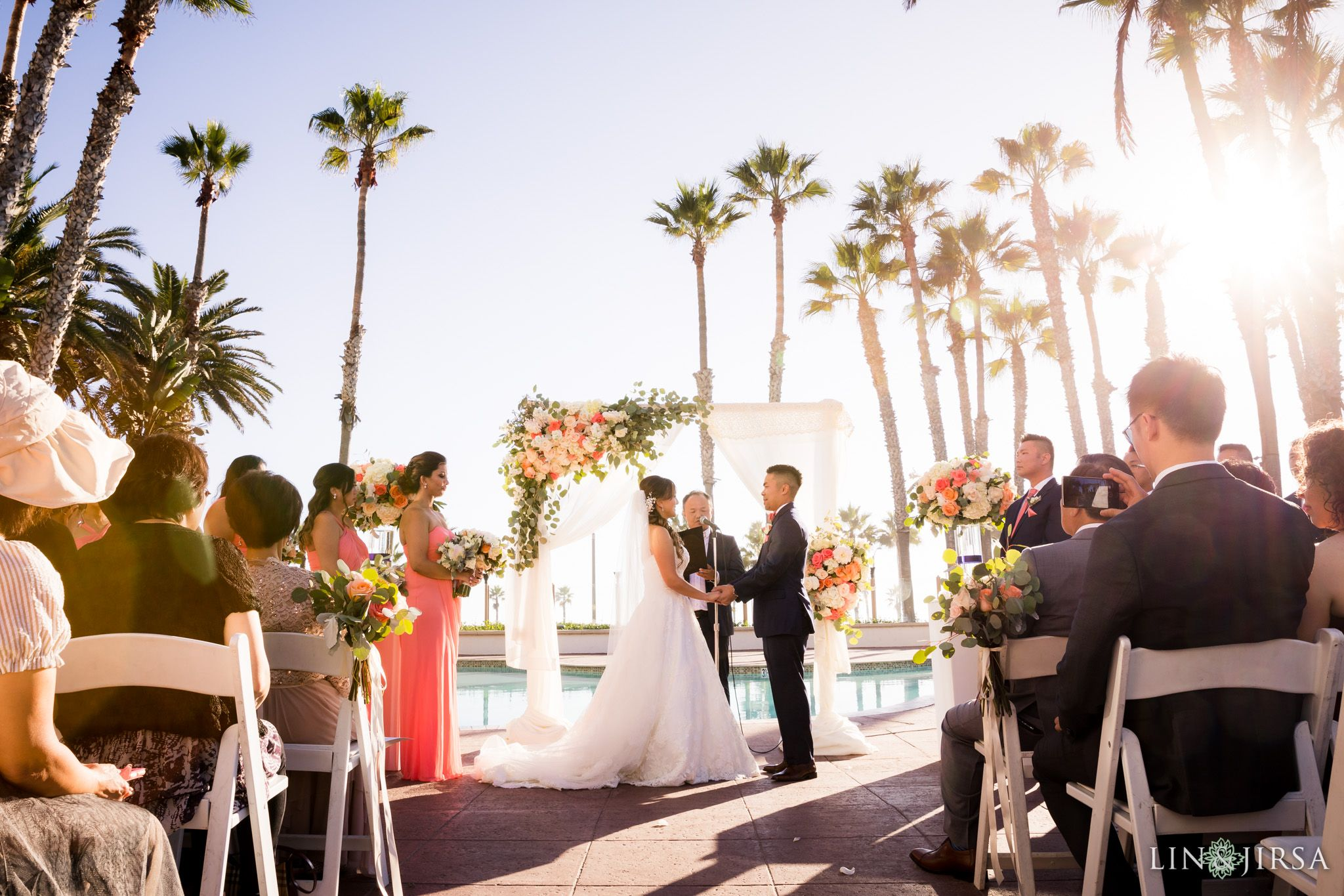Waterfront Beach Resort Orange County Wedding Bonnie Will