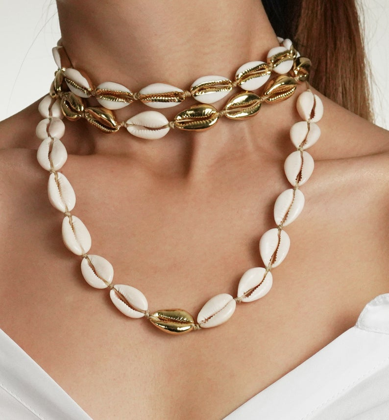 Cowrie Necklace Cowrie Shell Jewelry Cowrie Shell Necklace Cowrie Choker Cowrie Shell Choker Shell Necklace Festival Shell Jewelry
