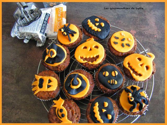les gourmandises de lydie muffins aux poires d co halloween gateau gouter pinterest. Black Bedroom Furniture Sets. Home Design Ideas