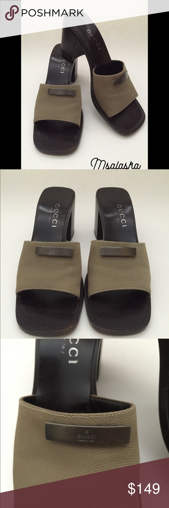 b43eb59922c Gucci Slides Mules Brown Gucci Slip On Mules. Authentic. Size 5 1