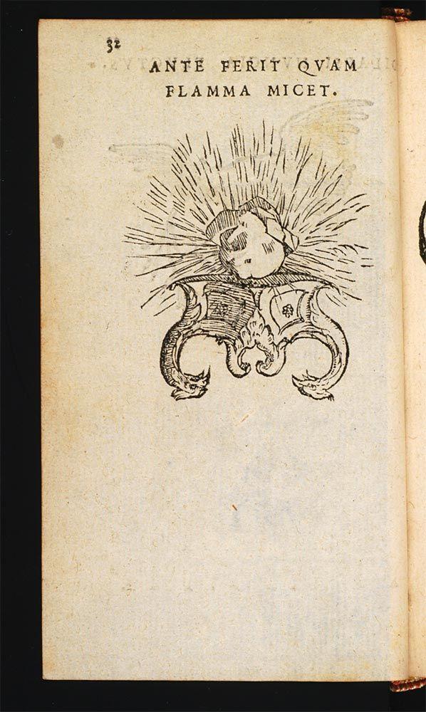 Ante Ferit Quam Flamma Micet Il Frappe Avant Que La Flamme Ne Brille Paradin Claude Devises Heroïques 1551 Illustraciones Alquimia