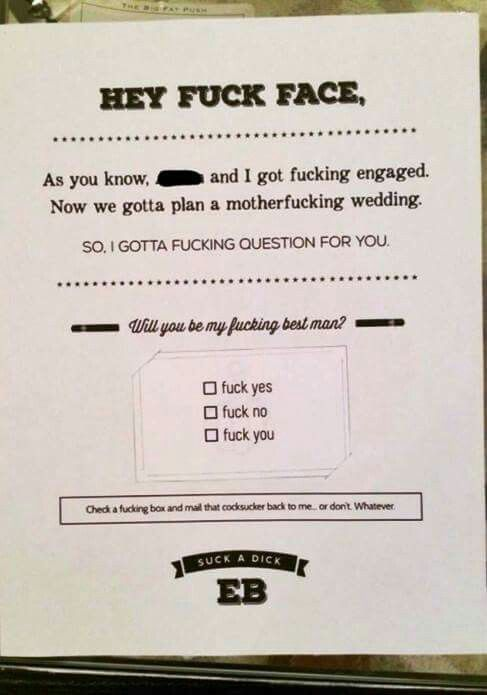 best man invite done well hahaha pinterest groomsmen