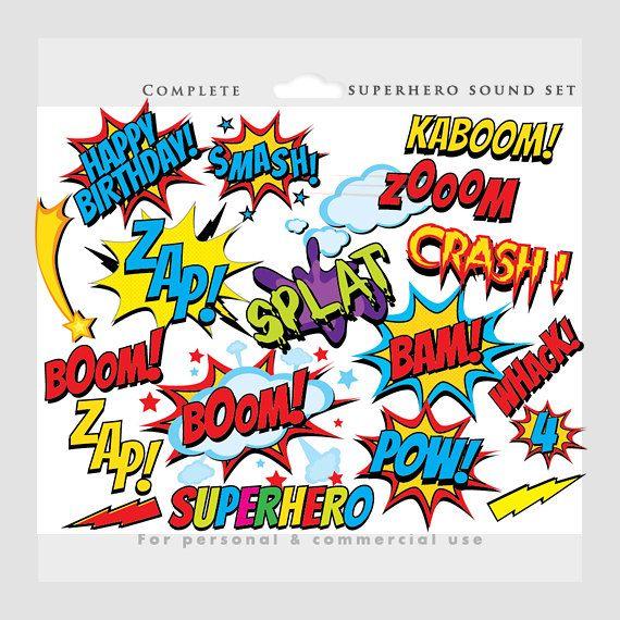 Superhero clipart - comic book clip art, super heroes, cityscape ...