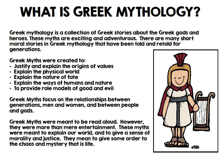 Greek Mythology Unit Interactive Notebook Greek Mythology