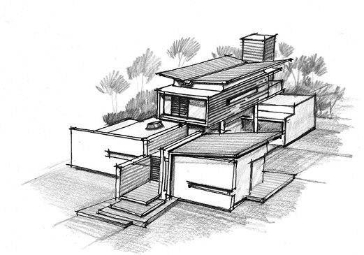 Gallery Of House Of Pavilions Architecture Paradigm 23 Architecture Drawing Pavilion Architecture Interior Architecture Design