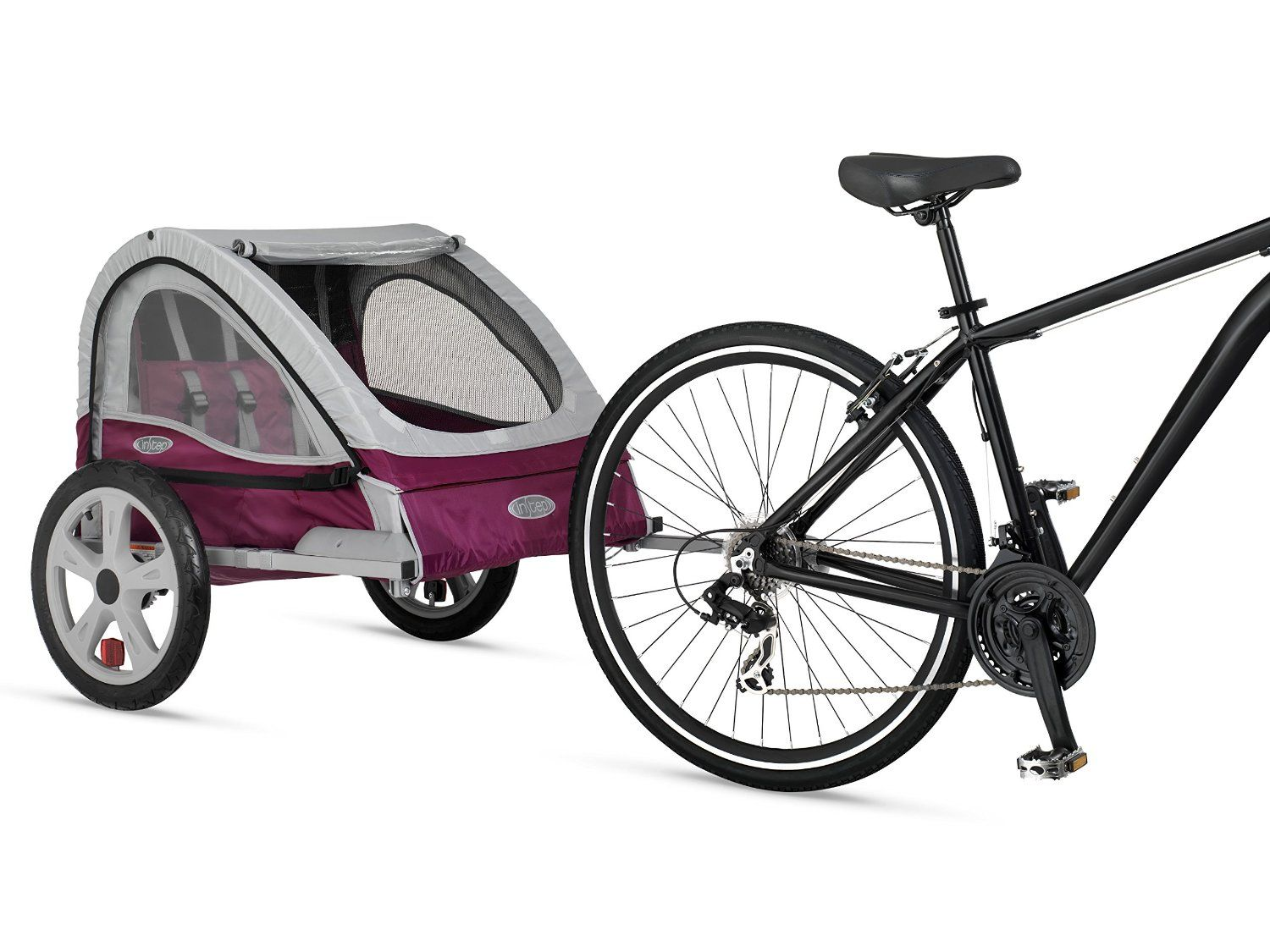 InStep Flare Double Bicycle Trailer, Maroon