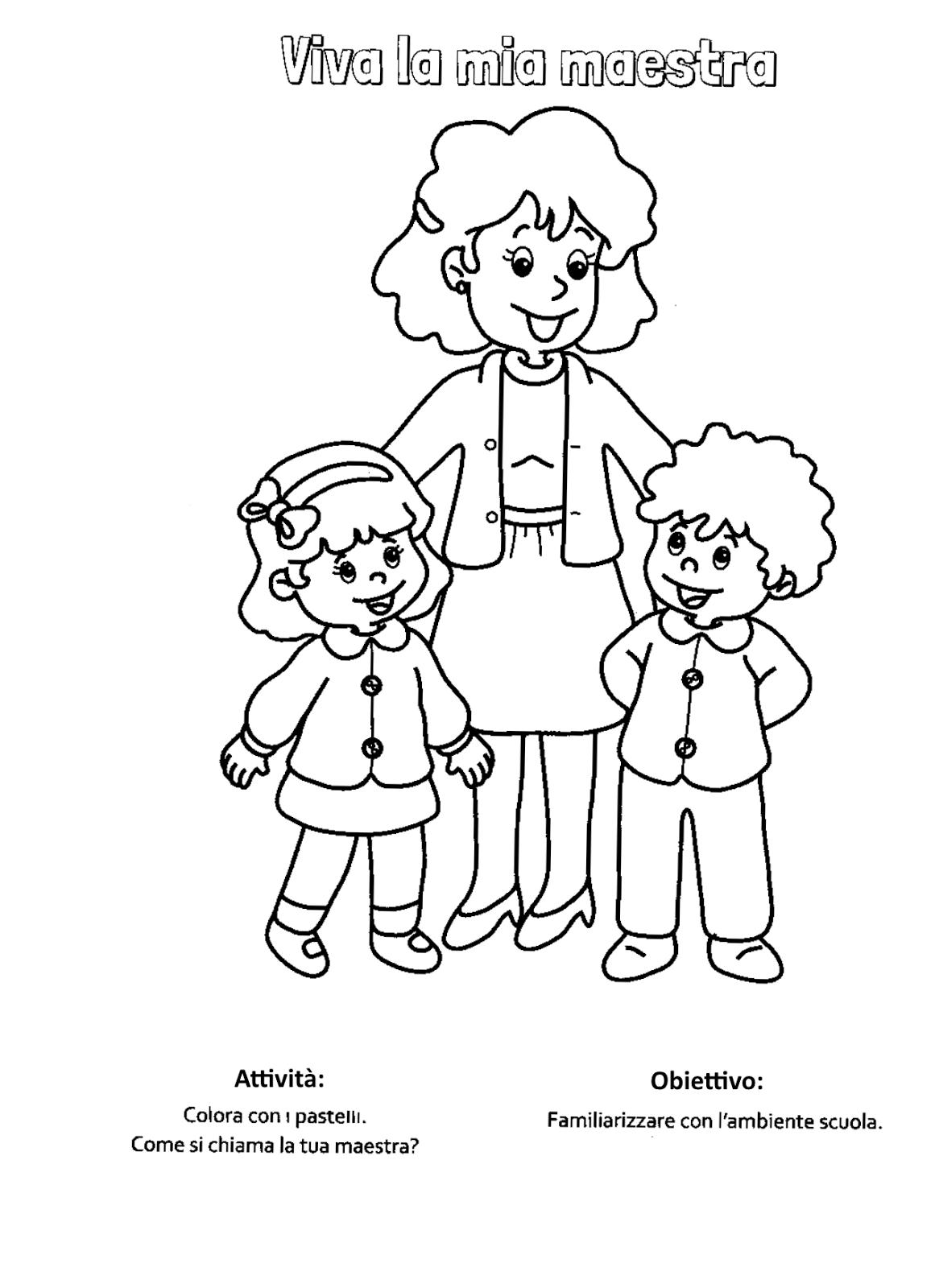 Super Blog scuola, Schede didattiche scuola dell'infanzia, La maestra  IO58