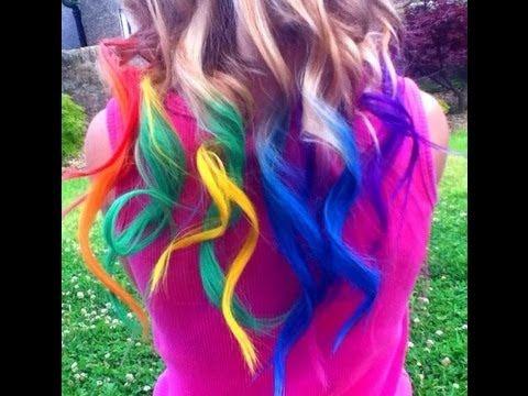rainbow hair dyed with chalk tutorial temporary haley rainbow hair dyed with chalk tutorial temporary haley bronwen youtube doin solutioingenieria Images