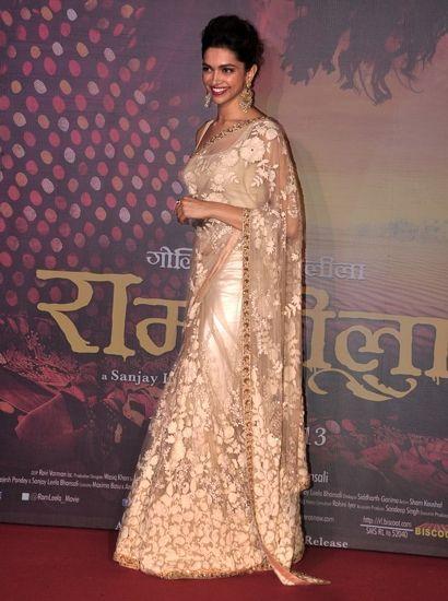 Deepika Padukone looks elegant in a Sabyasachi Mukherjee ...