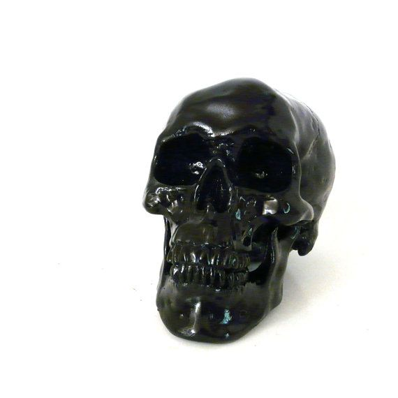 skull head skulls macabre goth black home decor skull by skullpops