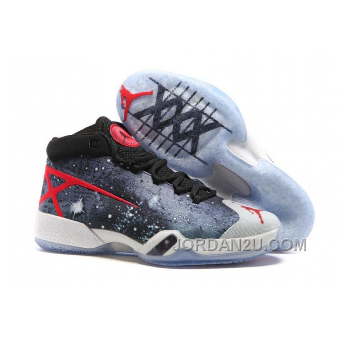 Original 2016 Air Jordan 30 XXX JBC Galaxy Black-Grey-Red For Sale