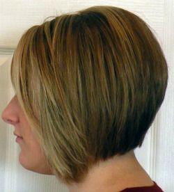 womens slight -line haircut stack