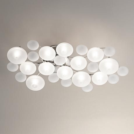 Possini Euro Lilypad 30 Wide Etched Glass Ceiling Light 20756 Lamps Plus Low Ceiling Lighting Ceiling Lights Glass Ceiling Lights Kitchen lighting ideas for low ceilings