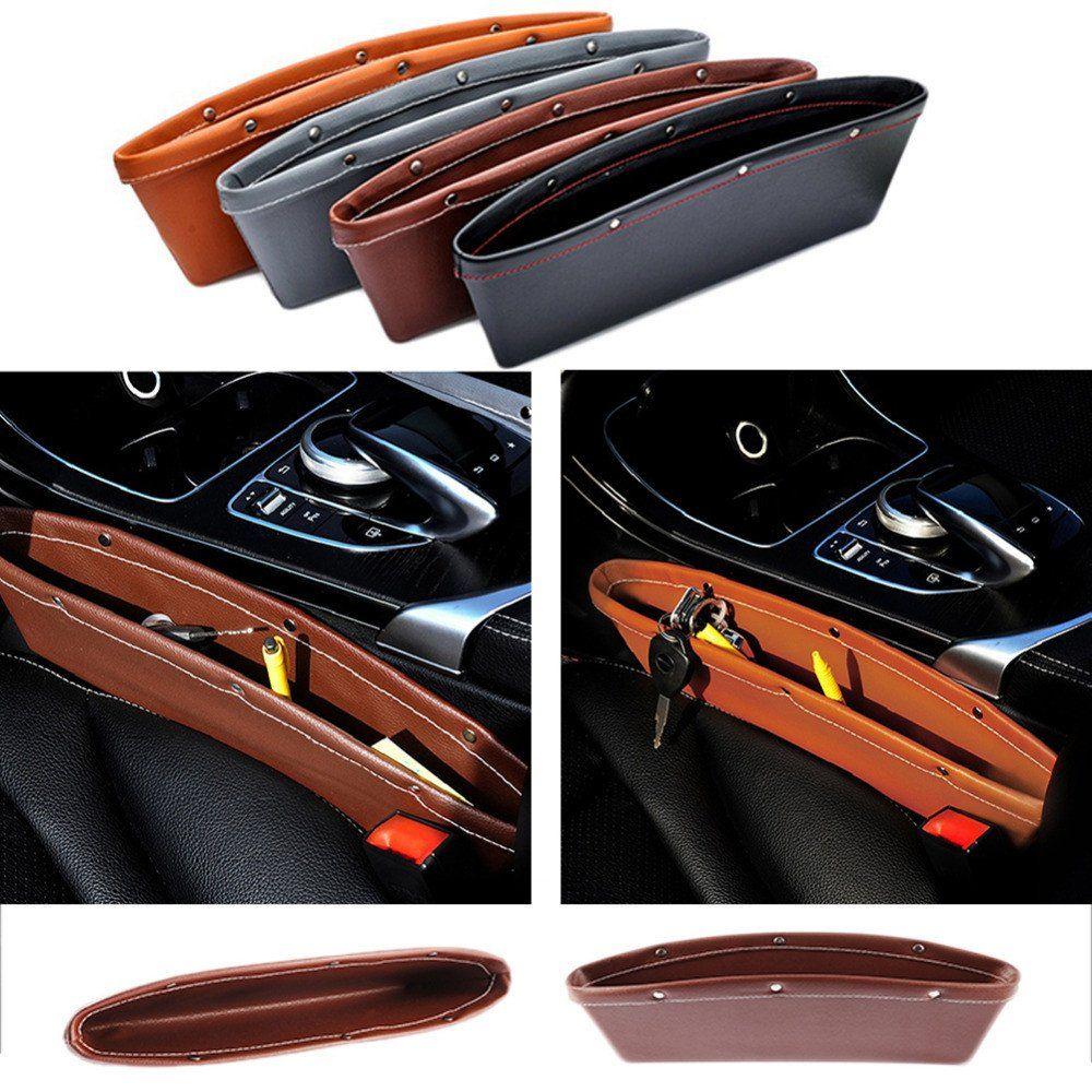 Car Universal Storage Box Phone Charger Holder Gadget Organizer Adhesive neu