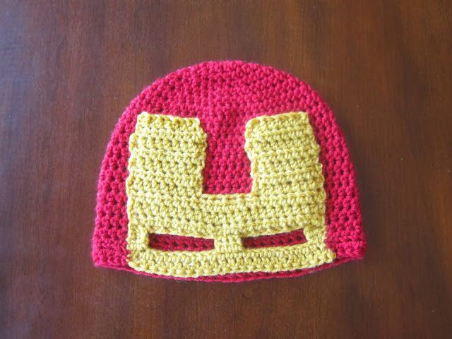 Avengers: Iron Man (With images)   Crochet hat pattern ...