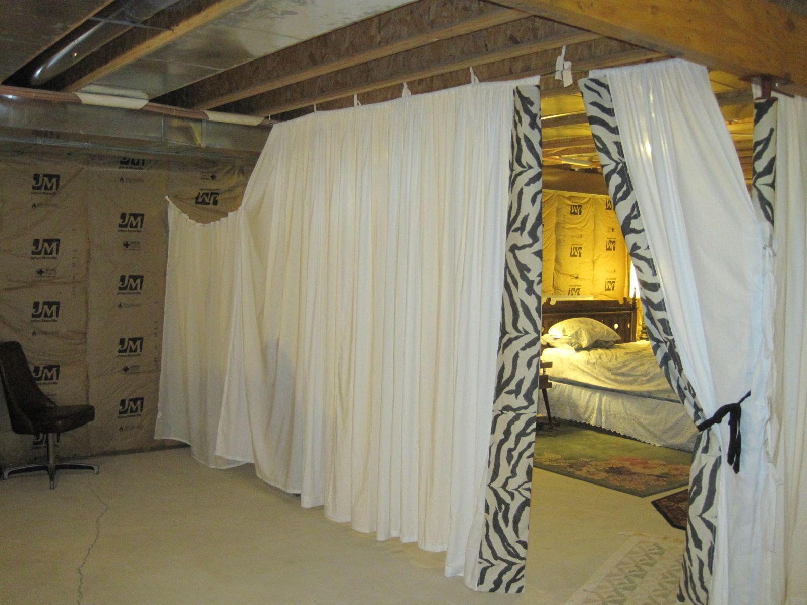 Unfinished Basement Craft Room