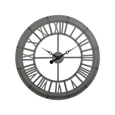 17 Stories Tewksbury 23 Wall Clock Unique Wall Clocks Clock Outdoor Wall Clocks