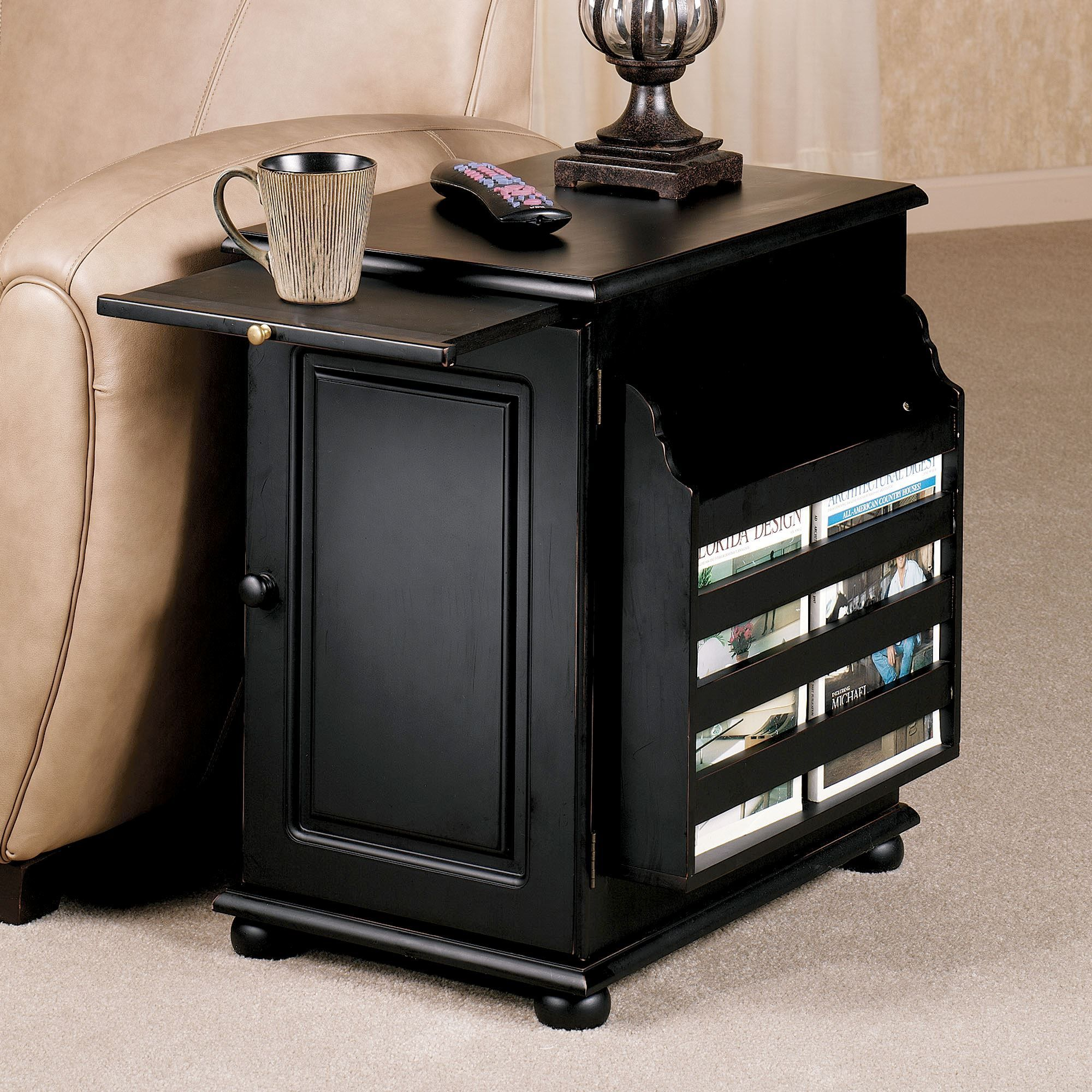 Related Image End Tables With Drawers Table Storage Black End