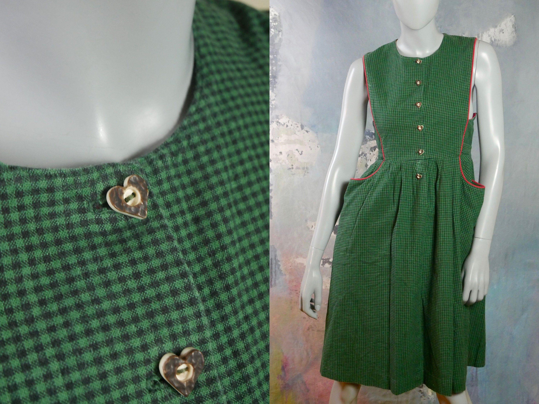 Dirndl Dress 1990s Austrian Vintage Cotton Trachten Etsy In 2020 Dirndl Dress Dirndl Vintage Clothing For Sale