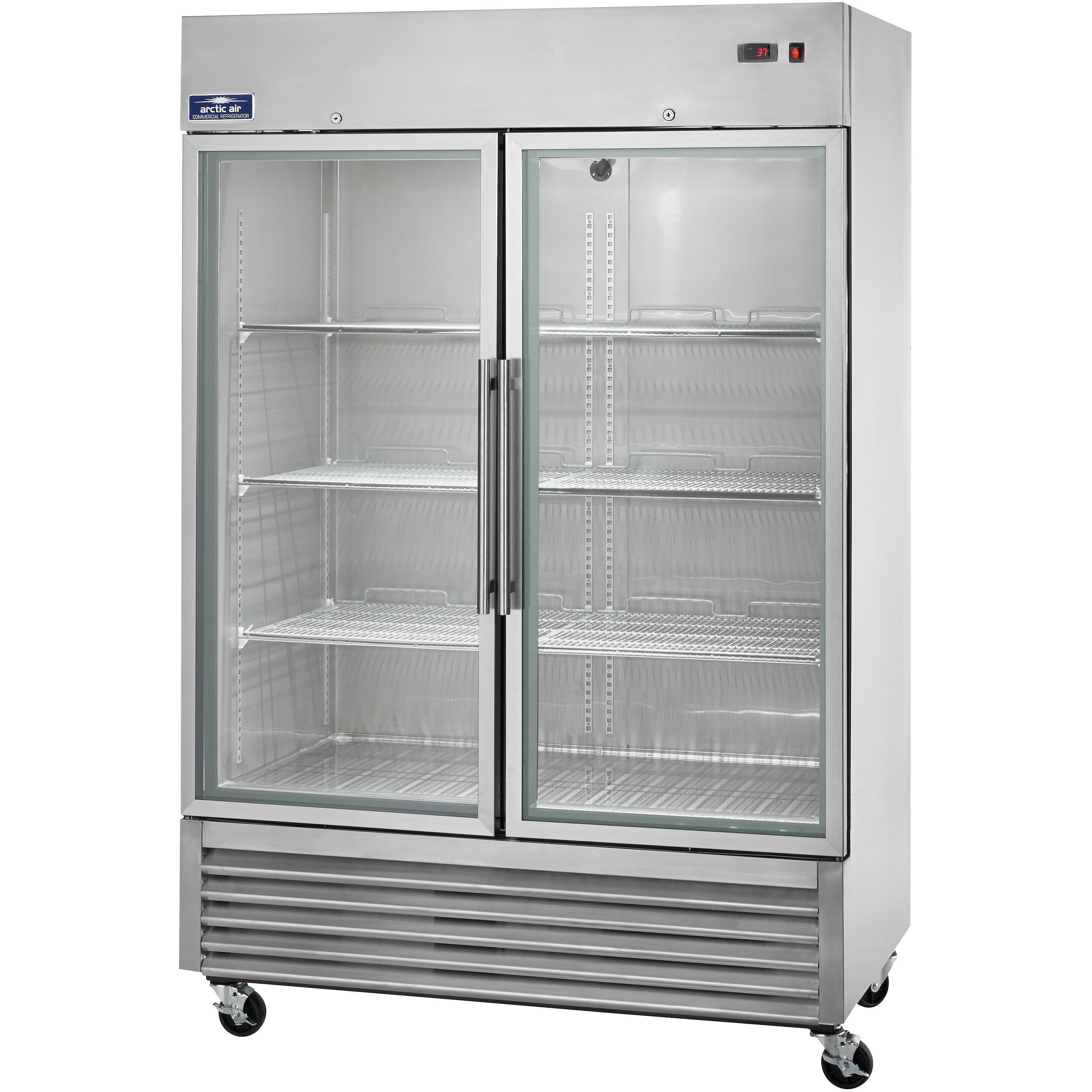 Arctic Air Commercial Kitchen 2 Door Reach In Refrigerator 54 With Glass Door Commercial Kitchen Industrial Kitchen Design Arctic Air